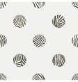 Polka dots background of zebra pattern vector image
