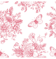 Seamless vintage pattern with bouquet vector image