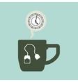 tea time icon drink concept Flat illiustration vector image