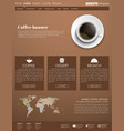 Template coffee web site vector image