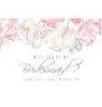 tulip bridesmaid card pink vector image