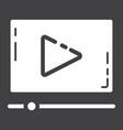 video marketing glyph icon seo and development vector image
