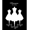 White Silhouettes of Mannequins vector image