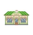 Coffee Shop Commercial Building Facade Design vector image
