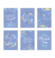Christmas lettering cards vector image