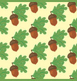 oak leaf and acorn seamless pattern vector image