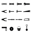 tools icon set vector image
