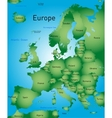 Map of europe vector image vector image