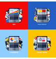 flat concepts of SEO web design e-business media vector image vector image