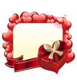 Heart Shaped Box with Ribbon3 vector image