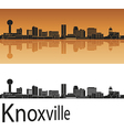 Knoxville skyline in orange vector image vector image