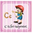 Carpenter vector image