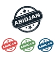Round Abidjan city stamp set vector image