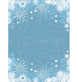 snowflake poster vector image