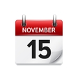 November 15  flat daily calendar icon vector image