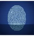 Fingerprint identification scanning system Finger vector image