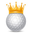 Golf ball in crown vector image