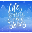 hand lettering winter vector image