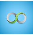 Infinity sign graphic design vector image