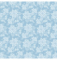 seamless floral lace pattern flowers on blue vector image