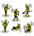 selection of bees vector image