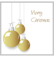 shiny gold color christmas decoration baubles vector image