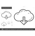 Cloud download line icon vector image vector image