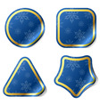 Christmas blue stickers vector image
