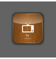 TV wood application icons vector image