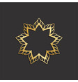 luxury gold flower logo plant image vector image