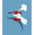 chef with a dish vector image