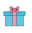 box of present gift with ribbon design vector image
