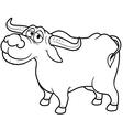 Buffalo outline vector image