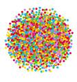 Confetti ball vector image