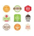 Indian cuisine label vector image