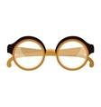 Retro glasses isolated flat icon vector image