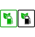 two green gas station icons vector image