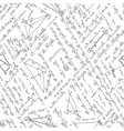 Maths seamless pattern EPS 8 vector image