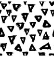 seamless pattern with brush triangles black vector image