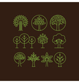 organic tree icons vector image