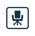 Office chair icon Rounded squares button vector image