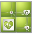 Backgrounds with love heart and flower vector image