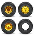 Construction Machines Wheels vector image