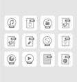 digital files icon set 2 vector image vector image