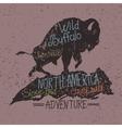 Vintage label with grunge effect vector image