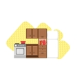 Kitchen Interior Design vector image vector image