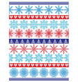 Seamless pattern including vary snowflakes shapes vector image