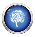 Ecological tree leaves icon vector image vector image
