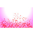 abstract heart valentine background vector image