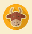 cow flat icon animal head vector image